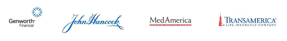 Genworth Financial, John Hancock, Med America and TransAmerica logos