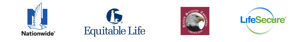 Nationwide, Equitable Life, United Security Assurance and LifeSecure logos